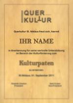 Kulturpatenschaft Querkultur (1 Jahr)