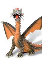 Figura Dragón sentado (naranja) 11 cm