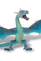 Bullyland Fantasy Minifigura Dragón volado (turquesa) 16 cm