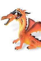 Figura Dragón con 2 cabezas Bullyland (naranja) 13 cm