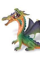 Figura Dragón con 2 cabezas Bullyland (verde) 13 cm