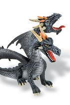 Figura Dragón con 2 cabezas Bullyland (negro) 13 cm