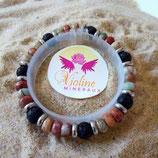 Aqua terra rondelles / lave perles 8mm - bracelet