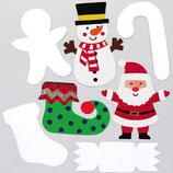 Weihnachtliche Pappfiguren