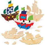 Geburtstagsbox Pirat mit Schiff