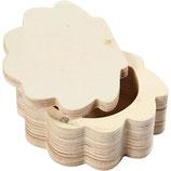 Muscheldose aus Holz