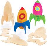 Rakete auf Holz