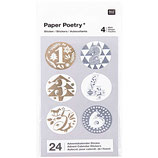 Paper Poetry Adventskalender-Sticker