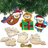 Putzige Weihnachtsfaultiere