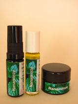 Nanaminze: Energiespray, Balsam, Duft-Roll-On