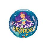 "Palloncino 18"" mylar H.Birthday Mermaid"