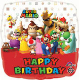 Palloncino  mylar Mario Bros Happy Birthday