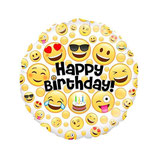 "Palloncino 18"" mylar H.Birthday Party Smile"