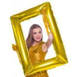 Palloncino mylar Cornice selfie grande Oro