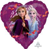"""Palloncino 18"""" mylar Cuore Frozen Disney """"Frozen II"""""""
