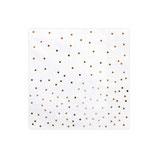 Tovagliolo Bianco c/Confetti Rose Gold 20pz