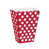 Box Porta Caramelle/Pop Corn Rosso Pois