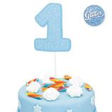 Cake Topper Numero 1 glitterato