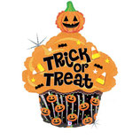Palloncino  Trick or Treat Cupcake Holographic