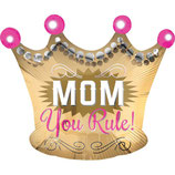 "Palloncino 20"" Junior Shape Mamma Regina ""Mom You Rule"""