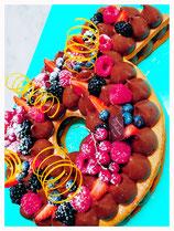 tart-cake al cioccolato personalizzata