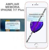 Ampliar / Aumentar memoria Apple iPhone 7 / 7 Plus 128GB 256GB