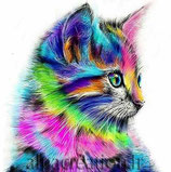 CHATON MULTICOLORE - KIT BRODERIE DIAMANTS