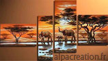 SAVANE ELEPHANTS (4 PARTIES) - KIT BRODERIE DIAMANTS