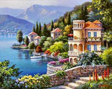 PAYSAGE ITALIEN - KIT BRODERIE DIAMANTS