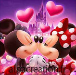 MICKEY ET MINNIE - KIT BRODERIE DIAMANTS