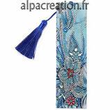 Marque pages Fleur Bleu