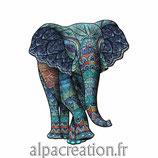 L'ELEPHANT BLEU - PUZZLE EN BOIS