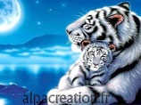 TIGRE ET SON BEBE - KIT BRODERIE DIAMANTS