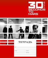 Тетрадь 30 Seconds to Mars red