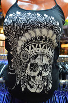 "Майка женская LB-G-STR-019 ""Indian Skull"""