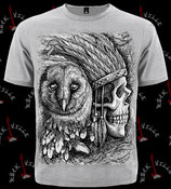 Футболка Indian Skull & Owl