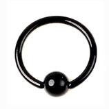 Кольцо со съемным шариком 8 мм.