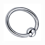 Кольцо со съемным шариком 12 мм.