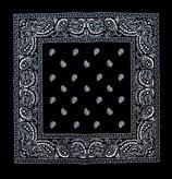 Бандана Огурцы черная 1