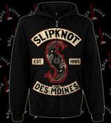 Толстовка на молнии Slipknot Des Moines