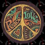 Наклейка Peace Love
