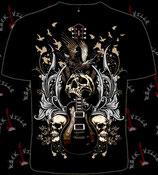 Футболка Guitar with Skull & Raven