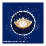 Weiß-Goldenes Lotus Mandala