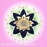 Sai Shakti Lotus Mandala Card