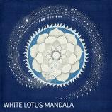 Weißes Lotus Mandala