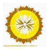 Weiß-Goldener Lotus Kristall