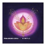 Rosa-Goldenes Lotus Mandala