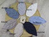 DIY Blättergirlande Blautöne
