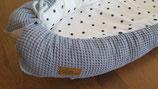 Babynest Dots jeansblau