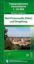 Wander- und Radfahrkarte Bad Freienwalde und Umgebung